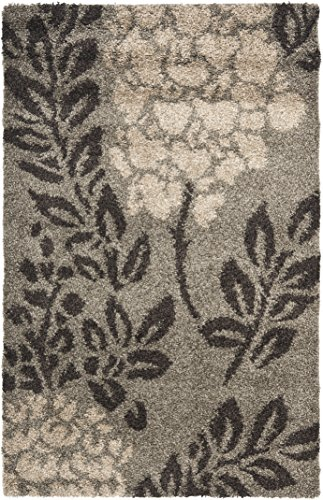 Safavieh Florida Shag Collection SG456-7928 Smoke and Dark Brown Area Rug 4 x 6