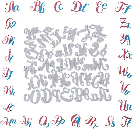 UFLF Fustelle Lettere Cutting Dies Alfabeto per Biglietto dauguri Inviti Scrapbooking Fai da Te