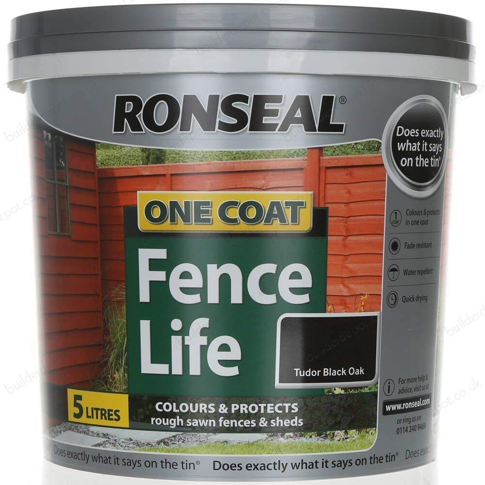 Black 3XOne Coat Fence Life Tudor, Black, 5 Litre