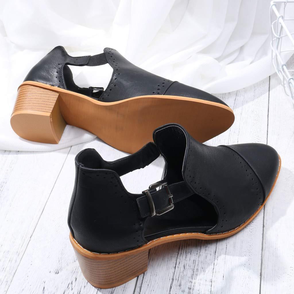 Dimanul Shoes for Women Fashion Spring Single Shoes Round Toe Hollow High Heels Booties Roman Beach Shoe