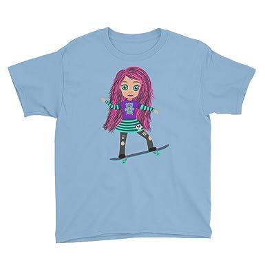 4214a0b33c Amazon.com: Lola Skater Girl Skateboarding Punk Skateboard Kid Shirt ...