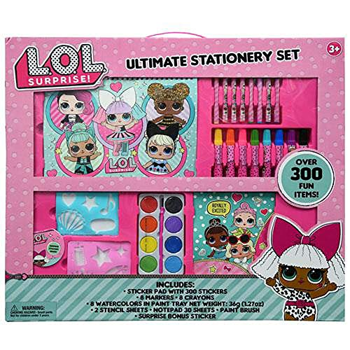 LOL Surprise! Ultimate Art Activity Stationery Set Over 300 Fun Items!