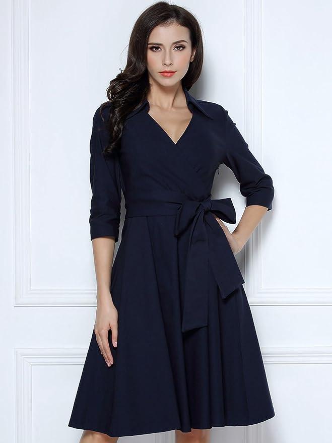 经典v领大摆裙仅$39.99!让你从夏穿到冬!