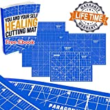 Double Sided Self Healing Cutting Mat Board For Sewing, Quilting & Kids' Crafts – Durable Design...