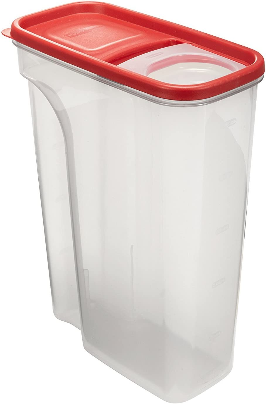 Rubbermaid Flip Top Cereal Keeper, Modular Food Storage Container, BPA-free, 22 Cup, Pack of 3, Red