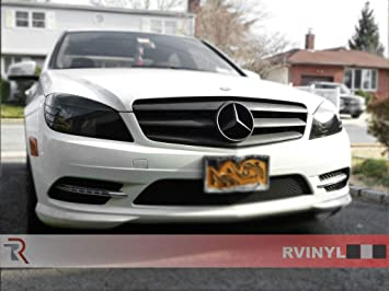 Rvinyl Rtint Headlight Tint Covers for Mercedes-Benz CLS-Class 2006-2011 Blackout Smoke Sedan