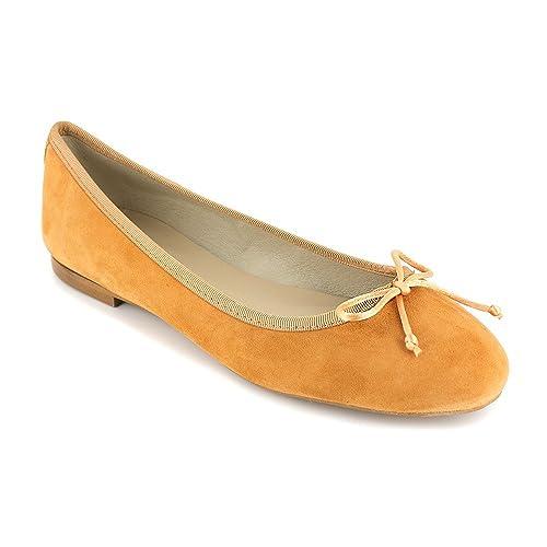 Cuero es Zapatos Y Bailarina Complementos Loca Naranja Lova Amazon qExnRRAZwC