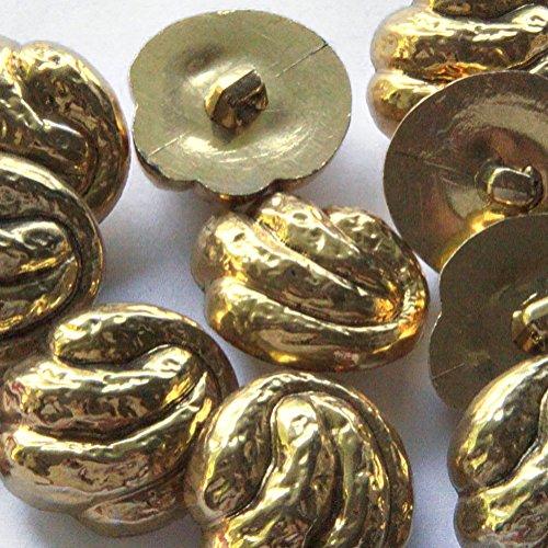 Gold Swirl Button - 7