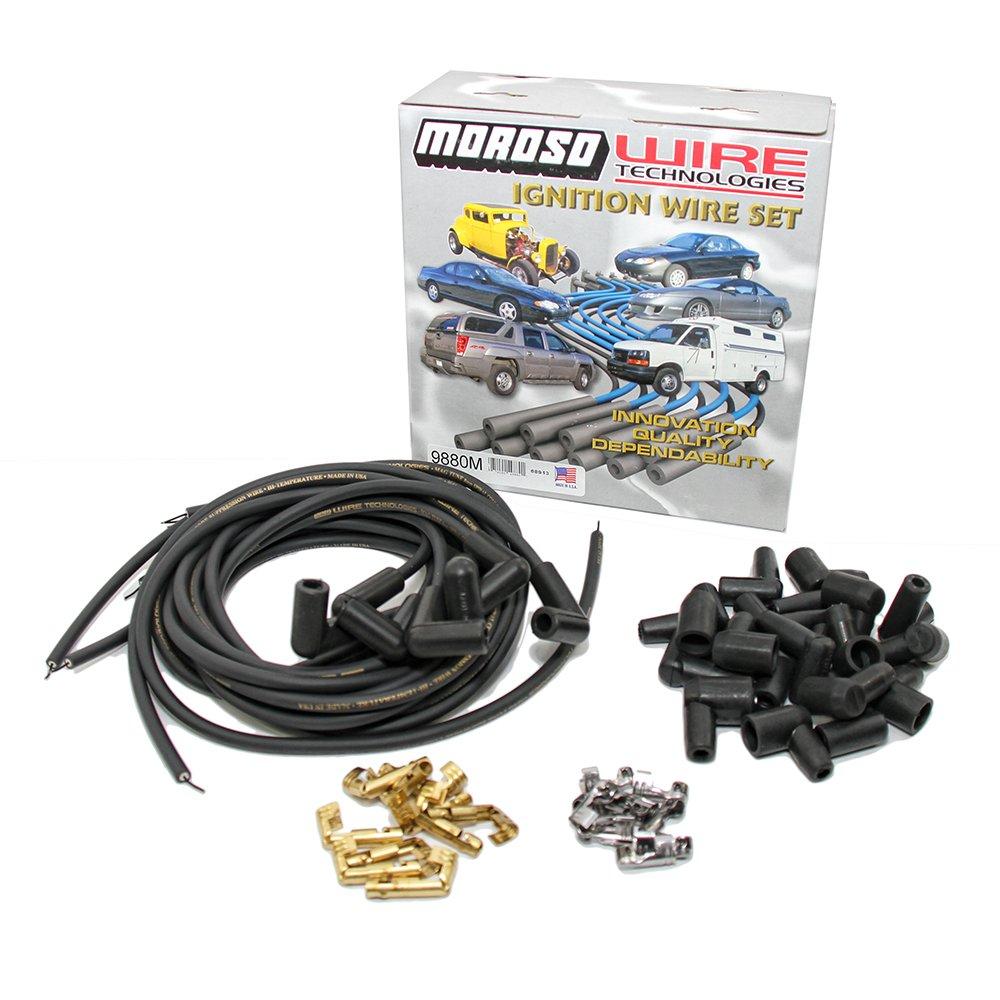 Moroso 9880M Mag-Tune Plug Wire Set (90 Degree - Universal), 1 Pack