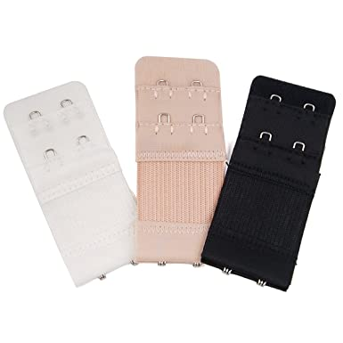 1b4282f649 Popamazing 3PCS Bra Extender 2 Hooks 3 Hooks Ladies Bra Extension Strap  Underwear Strapless  Amazon.co.uk  Clothing