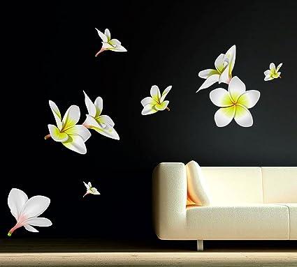 Buy decor kafe coloured pvc vinyl film flowers wall sticker decor kafe coloured pvc vinyl film flowers wall sticker 149x127cm white mightylinksfo