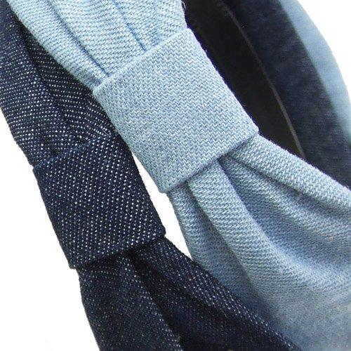 calzature prezzo più economico ultima selezione 130-702 - Cerchietto per capelli jeans con nodo laterale cm ...
