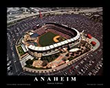 Anaheim: Edison Field, Angels Baseball, California Art Poster Print by Mike Smith, 10x8