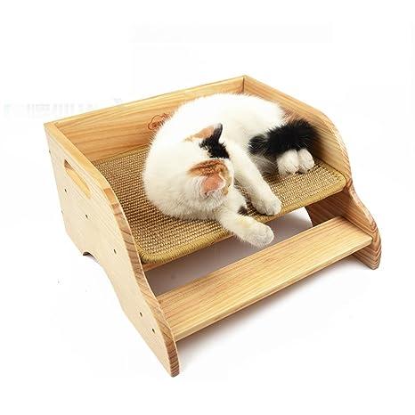mascota Cama de madera maciza Cama de gato Productos para mascotas Alfombra para gatos Cama de