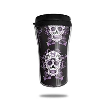1057b2ef296 FTRGRAFE Day Of The Dead Skull Travel Coffee Mug 3D Printed Portable Vacuum  Cup,Insulated