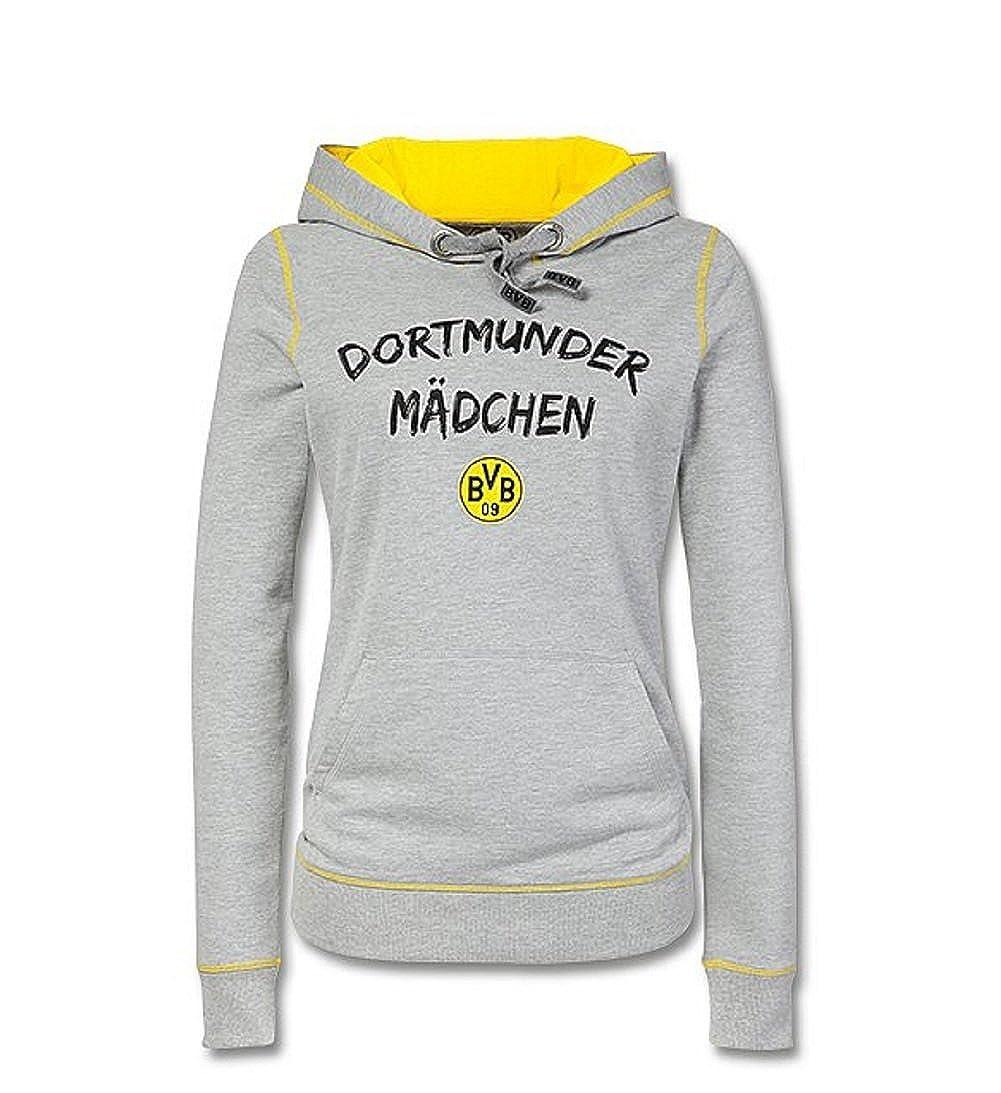 ORIGINAL BVB-BOX-LOGO-Hoodie Damen schwarz Schwarz Borussia Dortmund