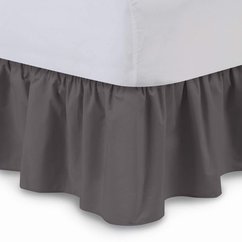 True Linen フリル付きベッドスカート (,) インチ ドロップダスト フリル プラットホーム、シワ、色落ち耐性 (すべてのベッドサイズと16色展開) Cal King - 21