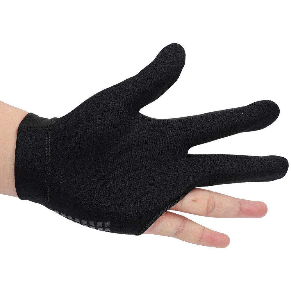 Alomejor Billiard Shooters Guantes Lef Hand 3 Finger Guantes para Hombres Mujeres Uso Unisex con el/ástico Thicken Hand Wrist