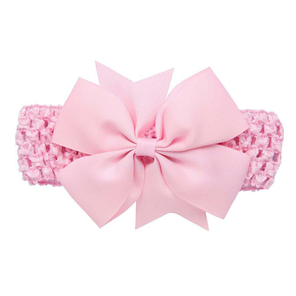 Accessoires de cheveux de Bowknot de bandeaux de vague de filles pour la bande de cheveux infantile de filles