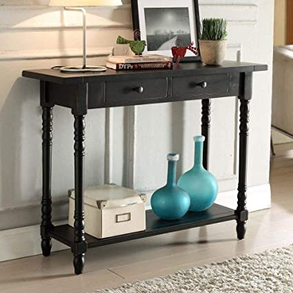 Phenomenal Amazon Com Moon Daughter Classic Console Table Black Wood Pabps2019 Chair Design Images Pabps2019Com