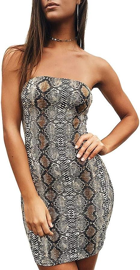 ZSRHH-Falda Vestido de Mujer Vestido Ajustado Estampado de Piel de ...