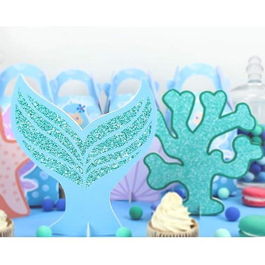Uniqus - Centro de Mesa de Sirena para decoración de Fiesta ...
