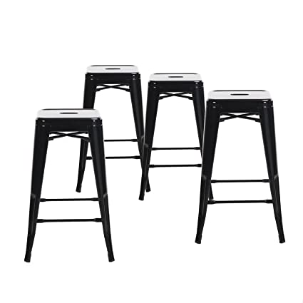 amazon com buschman set of four black 24 inches counter height