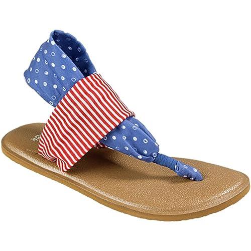 Amazon.com | Sanuk Sandals Girl Yoga Sling Patriot 13/1 ...