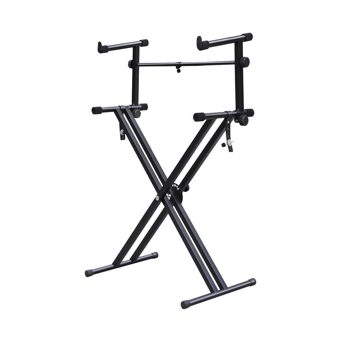 SOIDAL(R) Quality Heavy-Duty X Style Dual Keyboard Stand Electronic Piano Double 2-tier Adjustable SODIAL(R) 4334396554