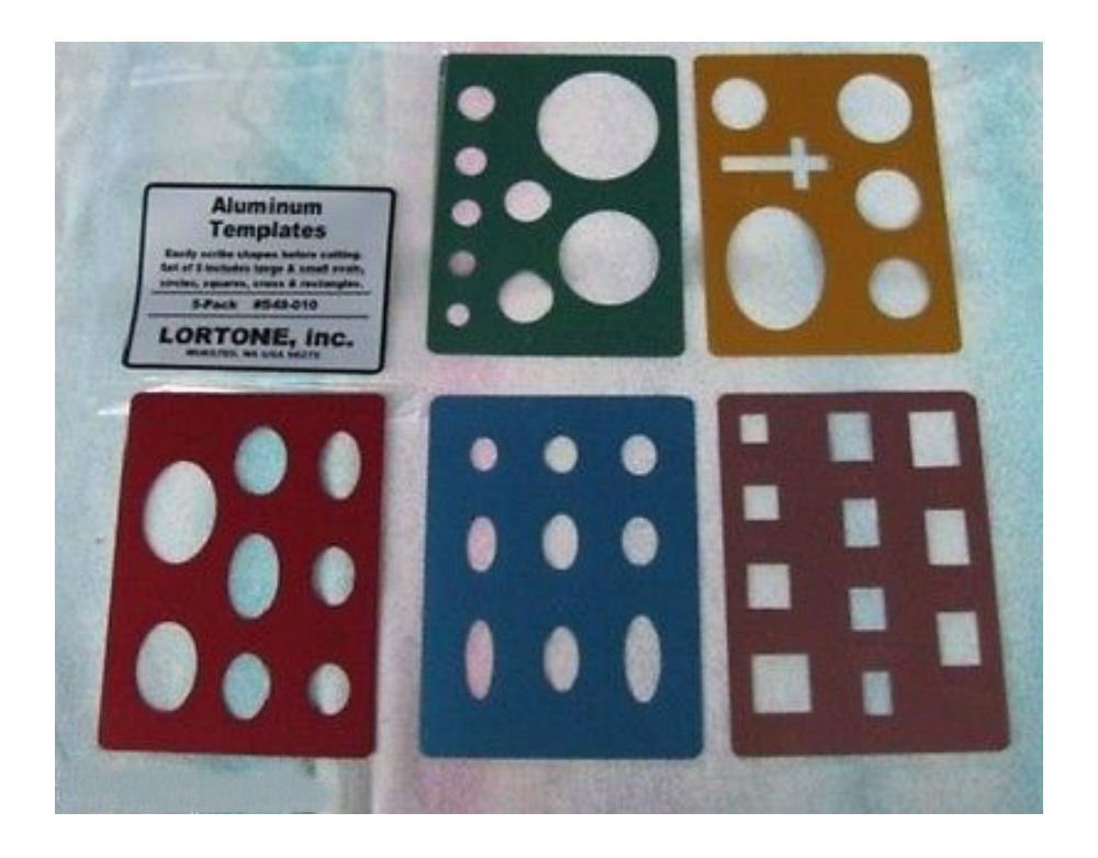 Lortone Lapidary Templates Cabbing Cabochon Aluminum Circle Cross Square 549-010 U.S Top Seller! by Unknown