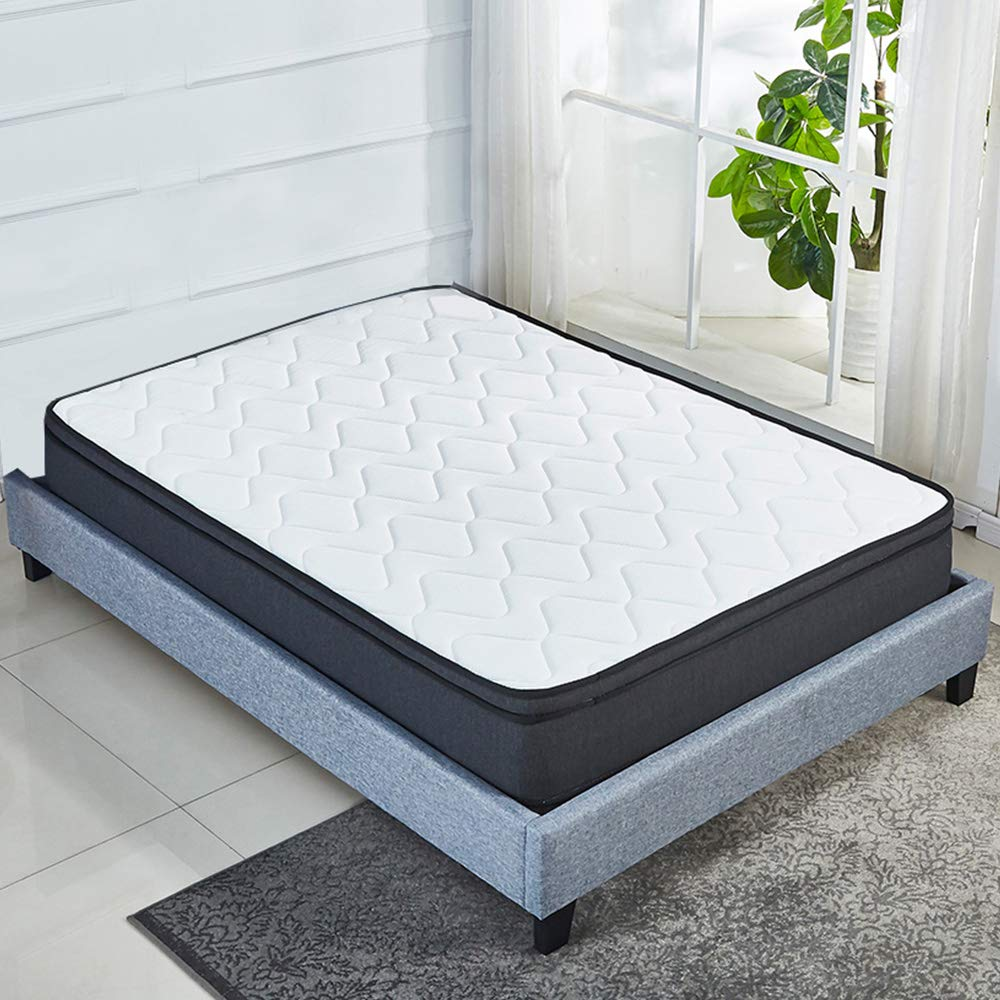 Luxury Euro Top 10 Inch Memory Foam Mattress Pocket Spring Coils,Firm but Comfortable,Soft Cotton Knitted Cover,CertiPUR-US Certificated Queen