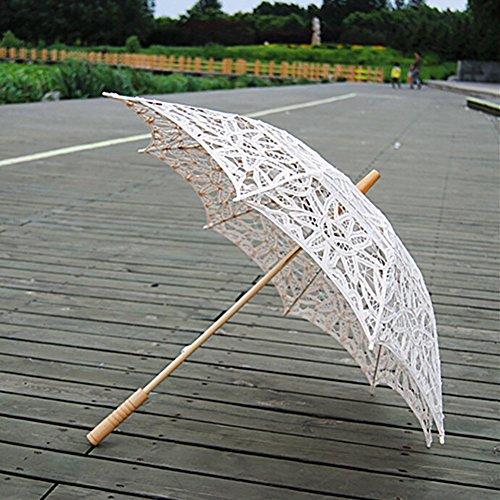 ESHOO Vintage Umbrella Cotton Lace Parasol Bridal Wedding Party -