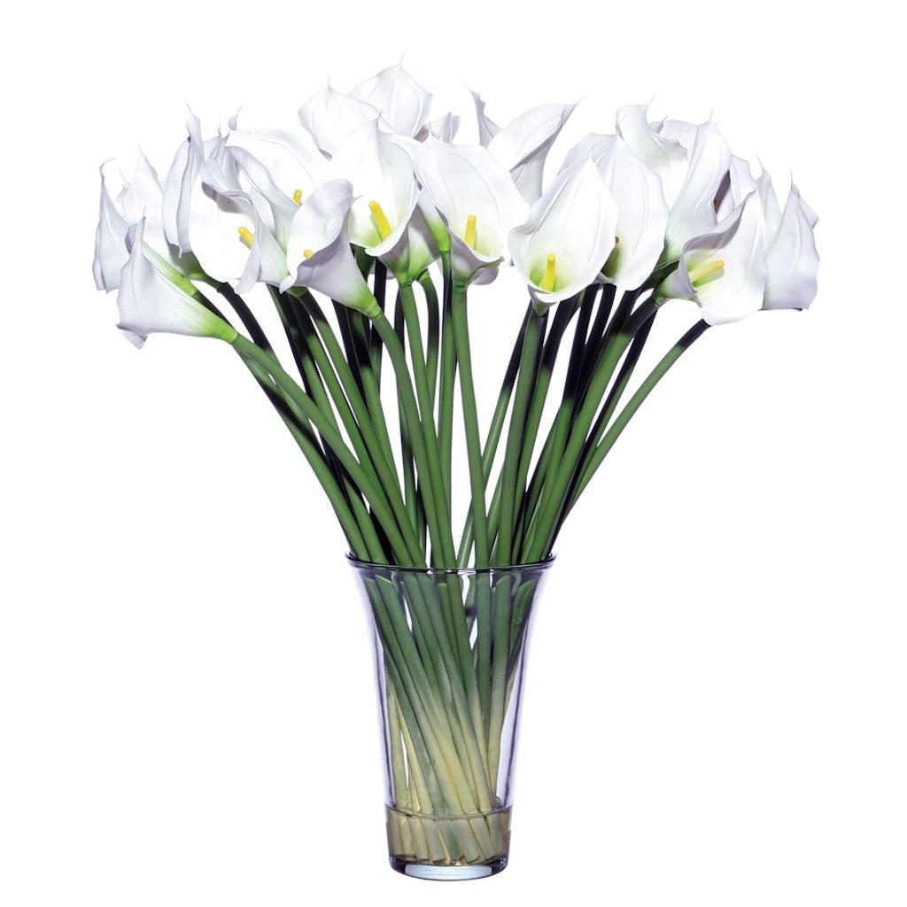 Vickerman F12015 Everyday Calla Floral, White, 27'' by Vickerman