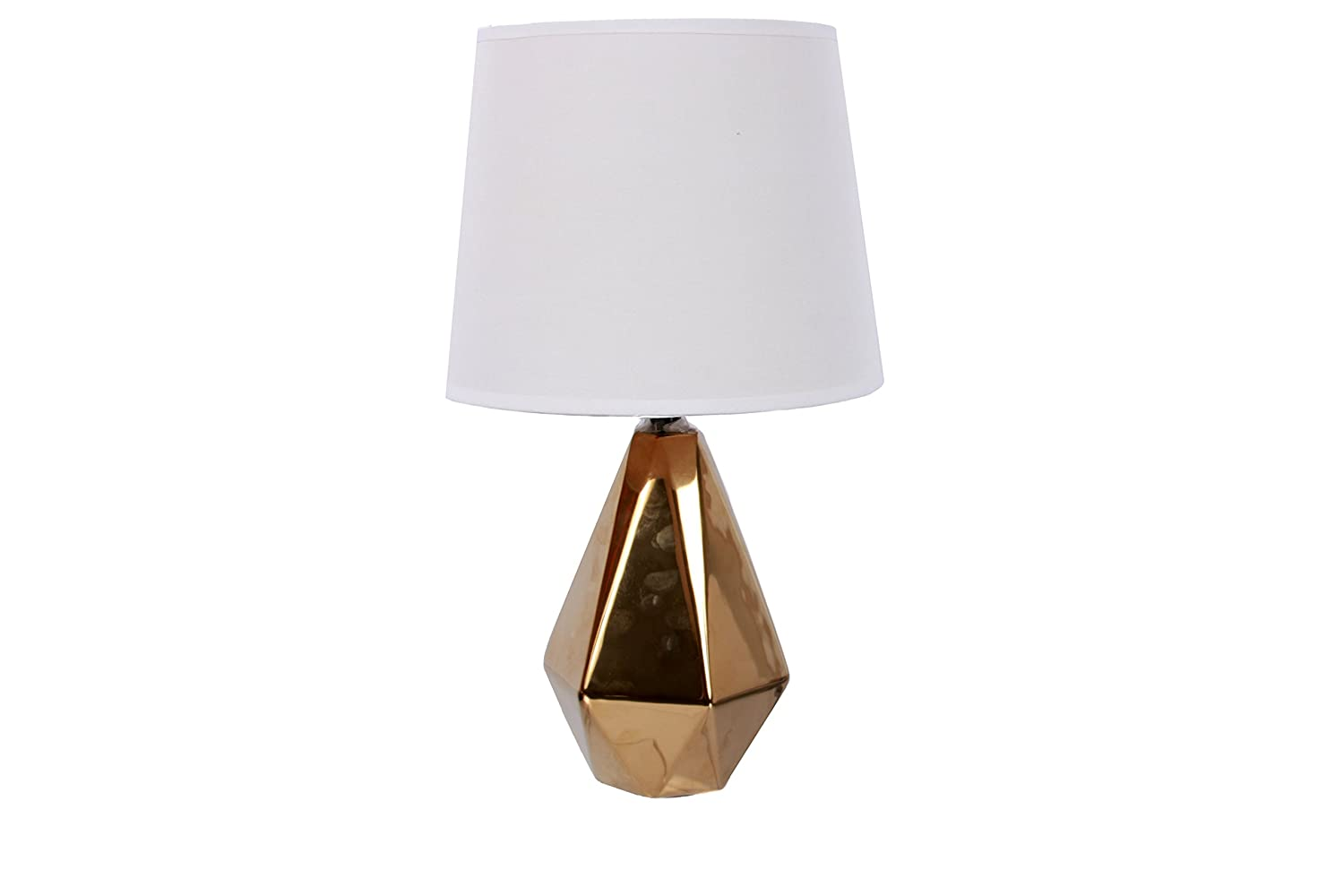 DEI Gold Faceted Diamond Base lamp Tall 70239