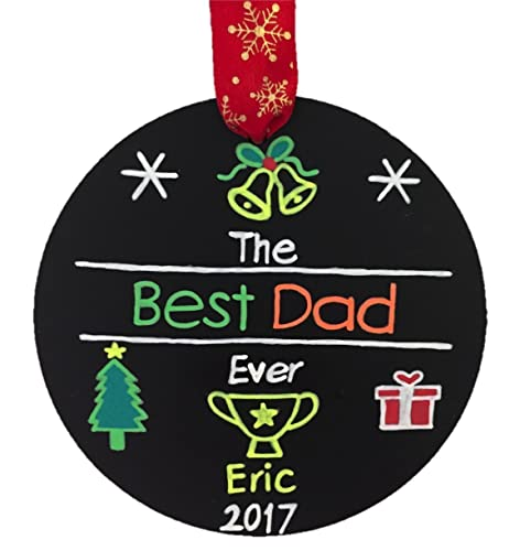 best dad ever personalized christmas ornament dad christmas ornament dad personalized gift - Dad Christmas Ornament