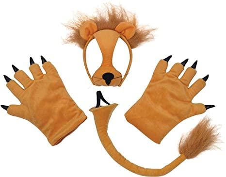 Lion Set (mask Tail + Paws)  sc 1 st  Amazon.com & Amazon.com: Lion Set (mask Tail + Paws): Clothing