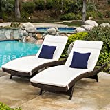 outdoor chaise lounge cushions Lakeport Patio ~Outdoor Chaise Lounge Chair Cushions (Only)(Set of 2)(Beige)