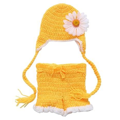 Sombrero de ganchillo para bebé recién nacido, pantalones ...