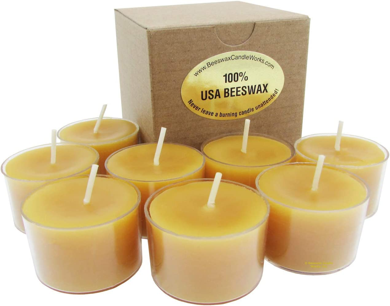 20 Pack Beeswax Tealight Candles Lead Free Wick 100/% Beeswax Candles