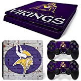 FriendlyTomato PS4 Slim Skin and DualShock 4 Skin – NFL- PlayStation 4 Slim Vinyl Sticker for Console and Controller Skin