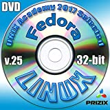 Fedora 25 Linux DVD 32-bit Full Installation Includes Complimentary UNIX Academy Evaluation Exam