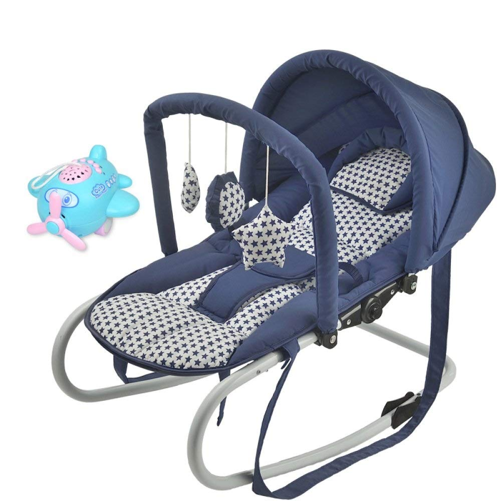 Yyqtyeyy Baby Rocking Chair,Soothing Vibration Baby Rocking Chair Cradle Baby Comfort Chair Rocking Chair Swing Cradle Bed Shaker Bed Chair Baby Sleep Artifact (Color : 1, Size : C) by Yyqtyeyy