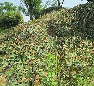Bonamana Militar camuflaje neto Woodlands Hojas 2M x 3m Camo Cubierta para caza Camping