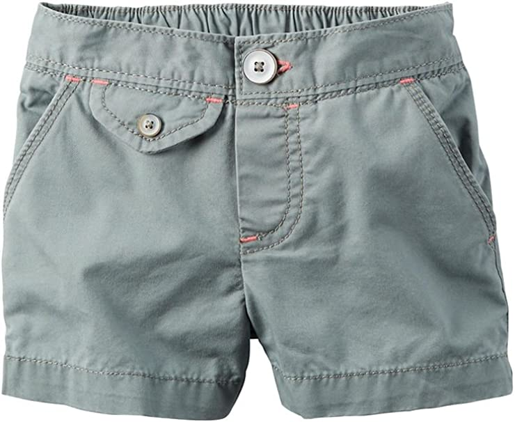 Carters Girls Flap-Pocket Shorts