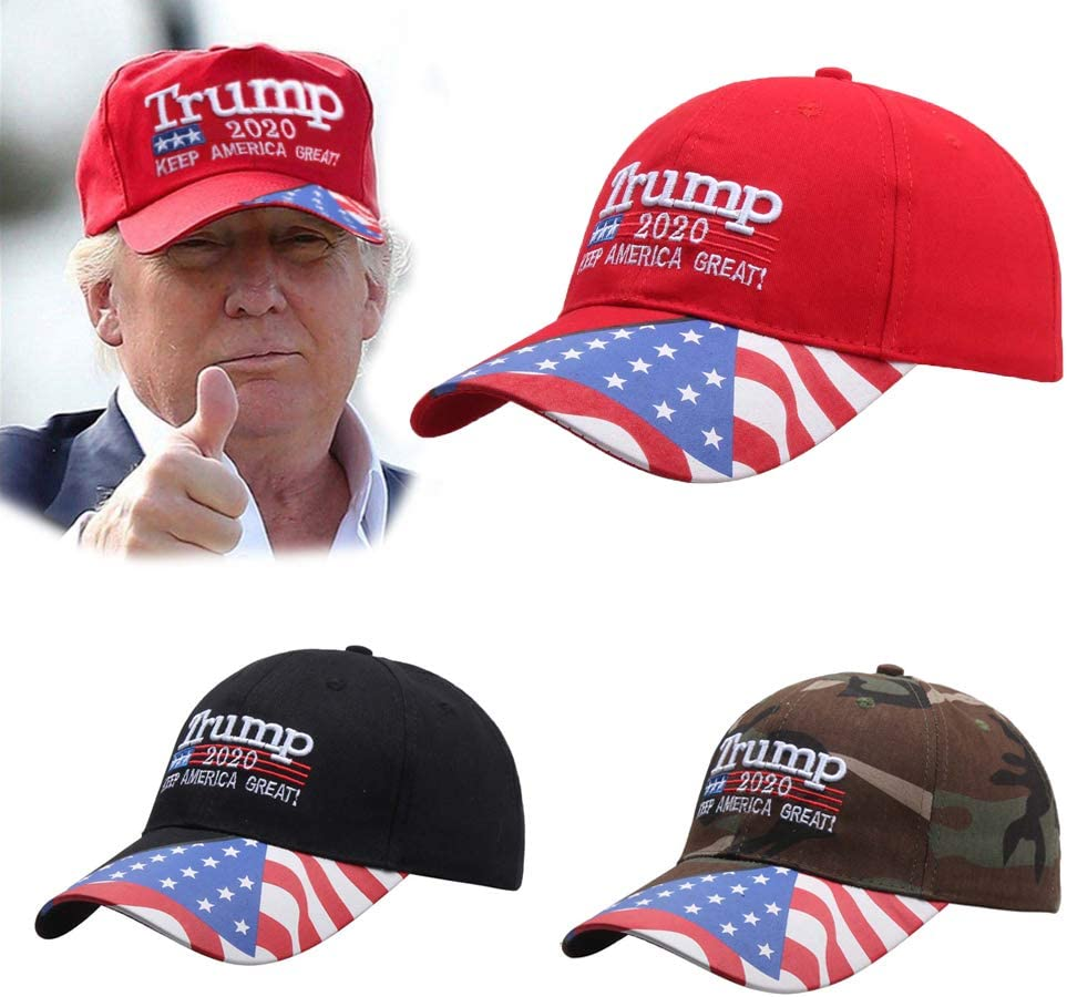 Adjustable America Great Cap for Outdoor Sport,Black Trump 2020 Hat,American Flag Donald Trump Baseball Cap,Donald Trump Hat 2020