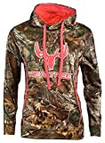 Realtree Xtra Ladies Camo Pullover Hoodie (L, Camo/Pink)