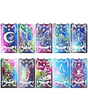 LET'S RESIN Tarot Cards Resin Molds Silicone, 10 Different Major Arcana Cards Molds, Large Tarot Silicone Molds, Epoxy Resin Molds for DIY Tarot Cards, Game,Decoration