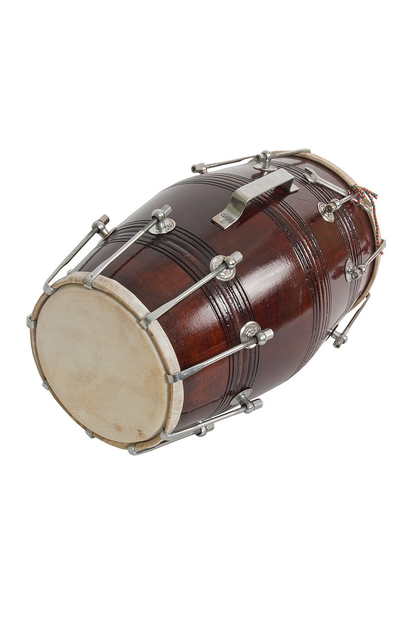 Dholak Deluxe Delhi Style Drum, Nut & Bolt - Blemished