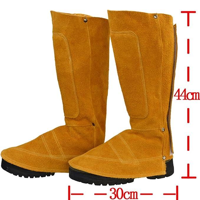 Zantec Botas para soldador de aislamiento térmico, Protecciones a su pierna y pies, resistentes al desgaste de la cubierta del pie Protecciones de la ...