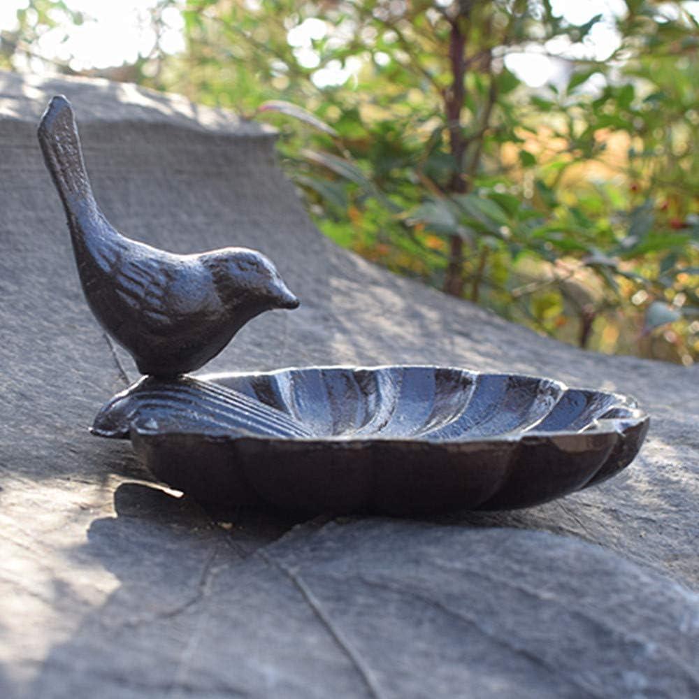 Cast Iron Garden Statue Patio Yard Garden Decoration Outdoor Statue (A7855) Bird Feeder